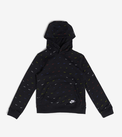 Nike  NSW Club Pullover All Over Print Hoodie  Black - DC3016-010 | Jimmy Jazz