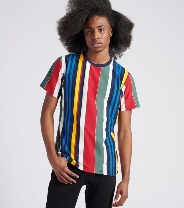 Decibel  Vertical Multi Stripe Tee  Multi - DCBL19-MLT | Jimmy Jazz