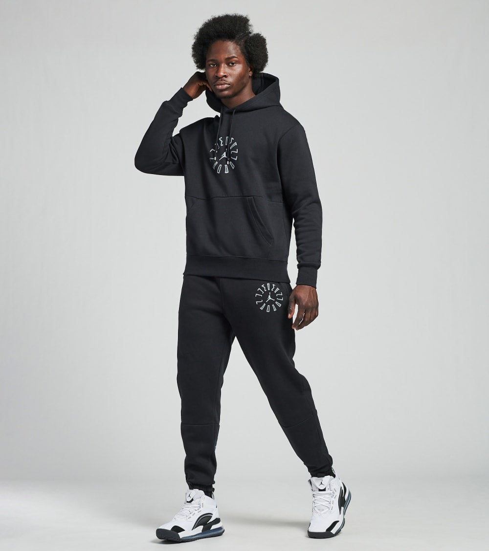 Jordan  Air Jordan 11 Fleece Pullover Hoodie  Black - DD0386-010 | Jimmy Jazz