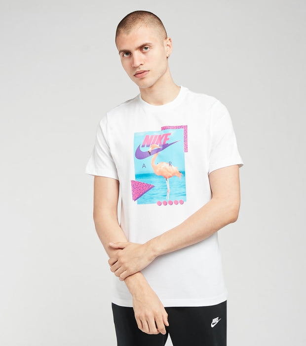 Nike  NSW Beach Flamingo Short Sleeve Tee  White - DD1282-100 | Jimmy Jazz