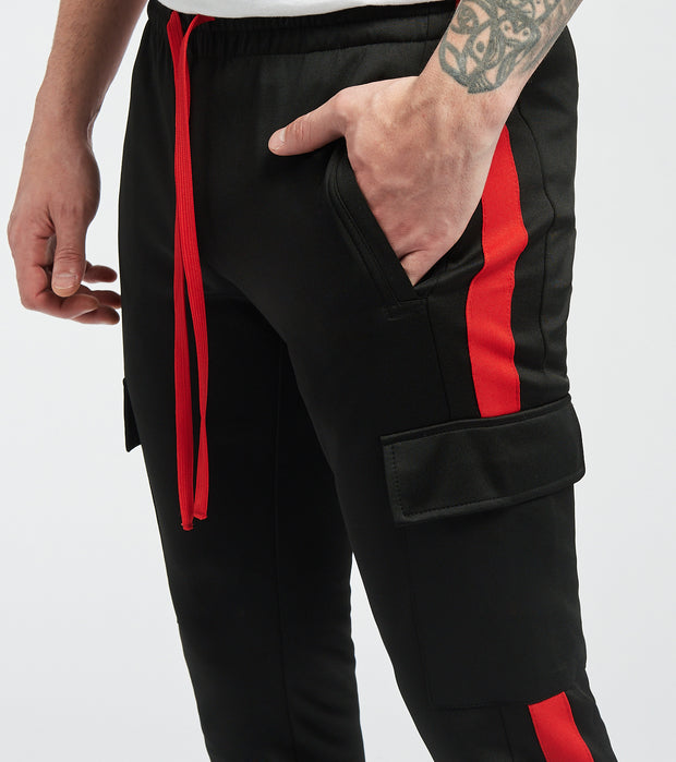 Decibel  Play Nylon Cargo Pocket Pants  Black - DECKB501-BKR | Jimmy Jazz
