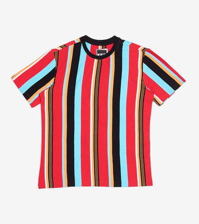 Decibel  Vertical Thin Stripe Tee  Multi - DECKT202-RED | Jimmy Jazz