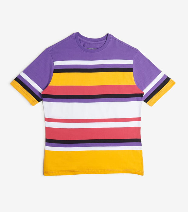 Decibel  Horizontal Stripe Tee  Purple - DECKT203-PRP | Jimmy Jazz