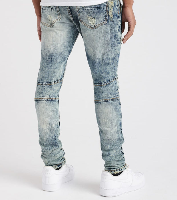 Decibel  Split Knee Denim Jean  Blue - DECWB134-ACD | Jimmy Jazz