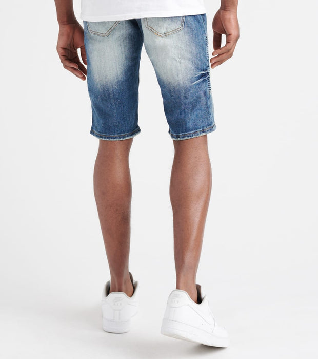 Decibel  Stretch Moto Denim Shorts  Blue - DECWB138-IND | Jimmy Jazz