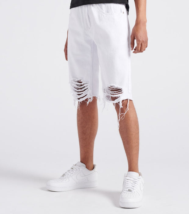 Decibel  Non-Stretch Shorts  White - DECWB139-WHT | Jimmy Jazz