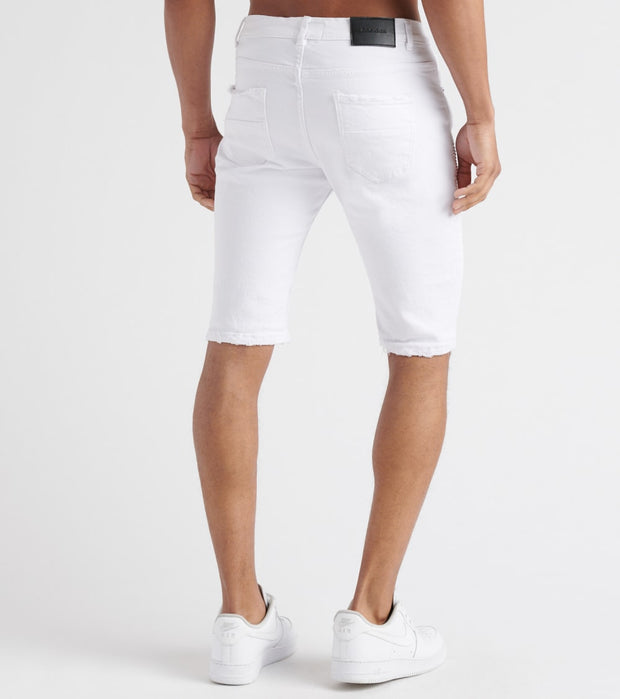 Decibel  Stretch Moto On Side Shorts W Rips  White - DECWB163-WHT | Jimmy Jazz