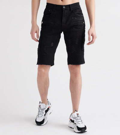 Decibel  Stretch Moto On-Side Short  Black - DECWB164-BLK | Jimmy Jazz
