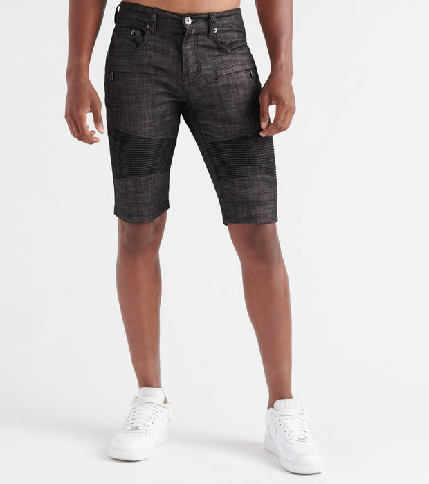 Decibel  Moto Denim Shorts  Black - DECWB198-RWB | Jimmy Jazz