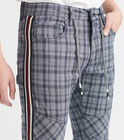 Decibel  Plaid Pants With Taping Pant  Grey - DECWB211-GRY | Jimmy Jazz