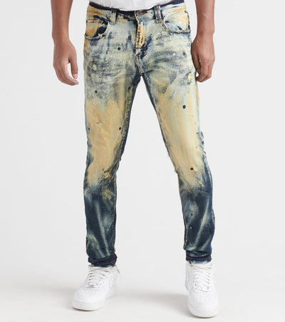 Decibel  5 Pocket Stretch Jeans With Bleach  Blue - DECWB220-IND | Jimmy Jazz