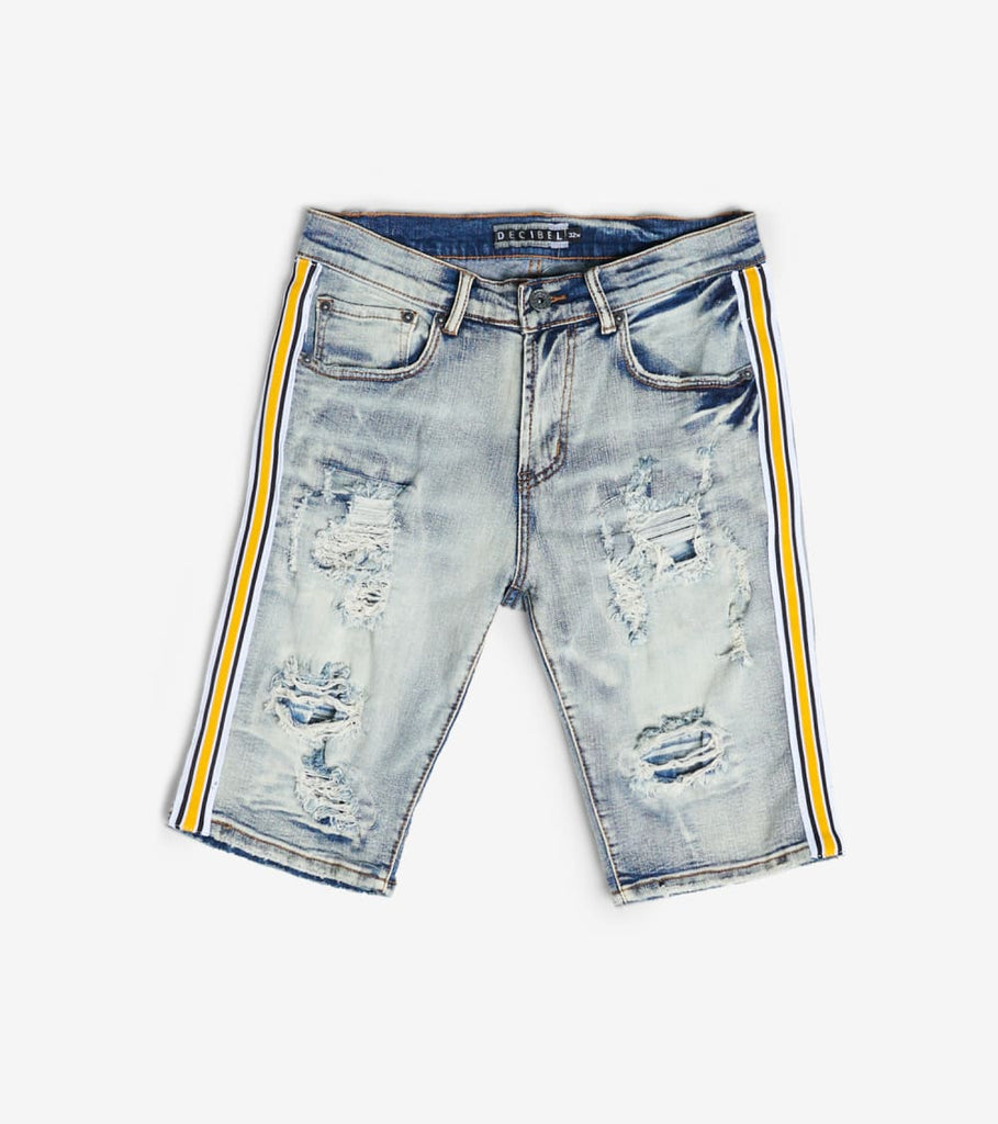 Decibel  Side Stripe Short With Tape  Blue - DECWB230-IND | Jimmy Jazz