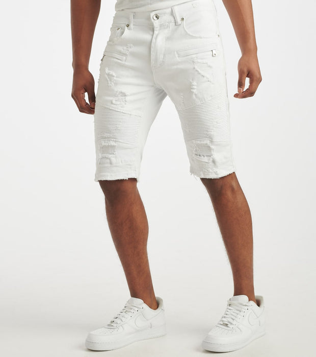 Decibel  Moto Shorts  White - DECWB233-WHT | Jimmy Jazz