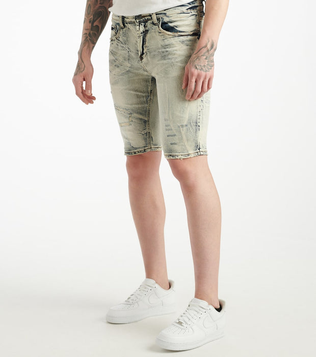 Decibel  Light Wash 5 Pocket Shorts  Blue - DECWB235-LTI | Jimmy Jazz