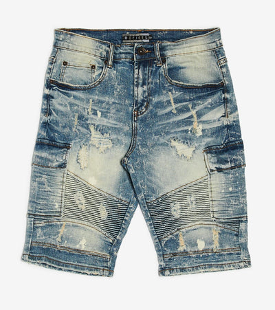 Decibel  Moto Denim Shorts  Blue - DECWB243-IND | Jimmy Jazz