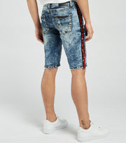Decibel  Ripped Side Sequin Denim Shorts  Blue - DECWB292-IND | Jimmy Jazz