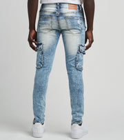Decibel  Ripped Cargo Jeans L32  Blue - DECWB299-IND | Jimmy Jazz