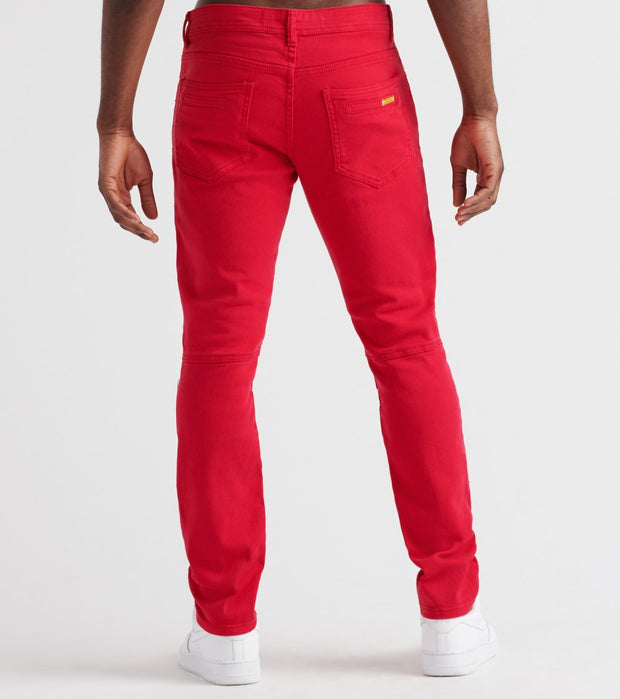Decibel  RNR Zipper Trim Pant - L32  Red - DF8357L32-RED | Jimmy Jazz