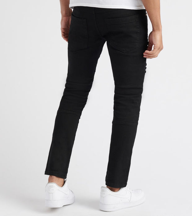 Decibel  Cargo Pocket Moto Jeans - L34  Black - DF8362L34-BLK | Jimmy Jazz