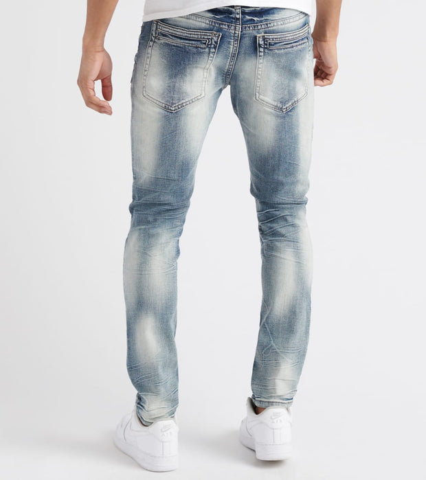 Decibel  3D Cut Line Moto Jean - L32  Blue - DF8364L32-IND | Jimmy Jazz