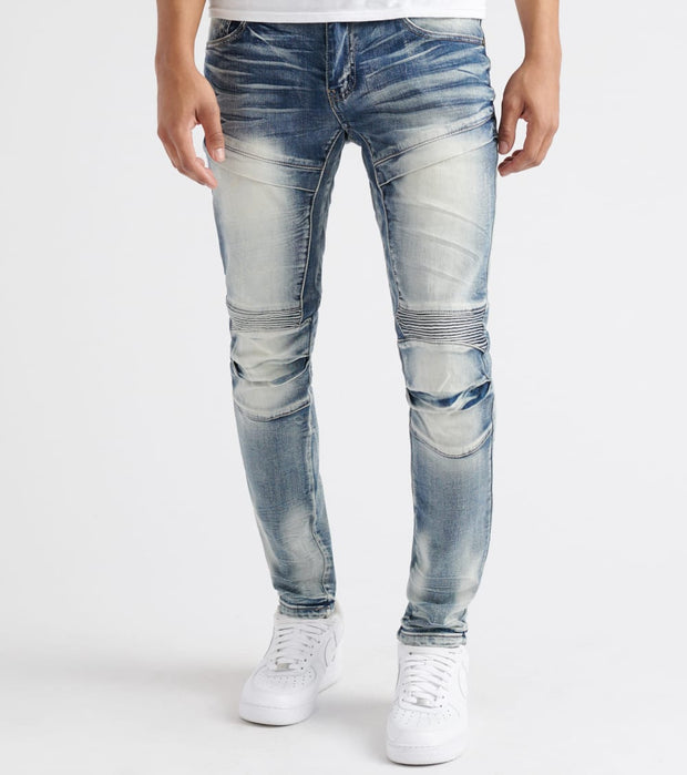 Decibel  3D Cut Line Moto Jean - L34  Blue - DF8364L34-IND | Jimmy Jazz