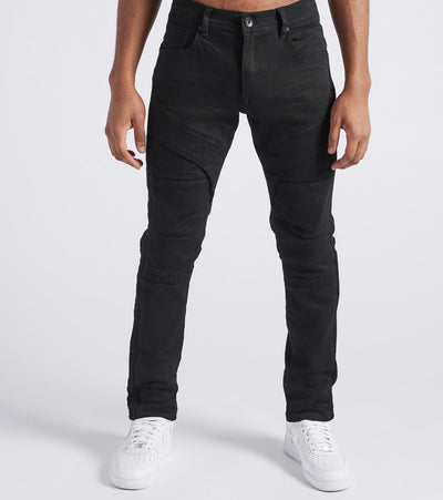 Decibel  Biker Cut Embossed Pants - L34  Black - DF8366L34-BLK | Jimmy Jazz