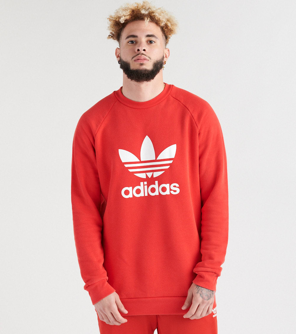Adidas  Trefoil Crew Sweatshirt  Red - DH5826-622 | Jimmy Jazz