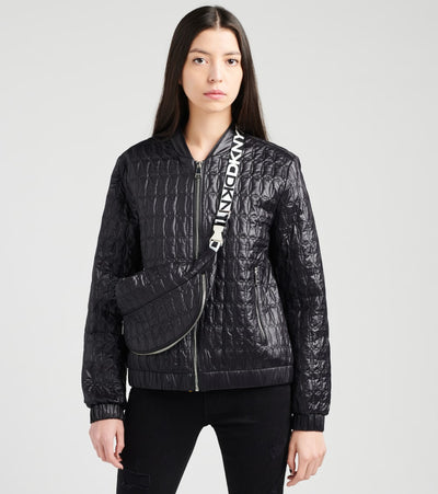 DKNY  Bomber Jacket with Crossbody Bag  Black - DL0MP515-BLK | Jimmy Jazz