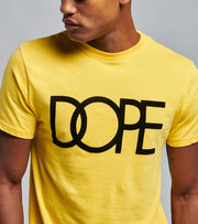 Dope  Flock Logo Tee  Yellow - DPMSP20128-YEL | Jimmy Jazz