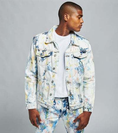 Dope  Feather Denim Jacket  Multi - DPMSP20D01-TIE | Jimmy Jazz