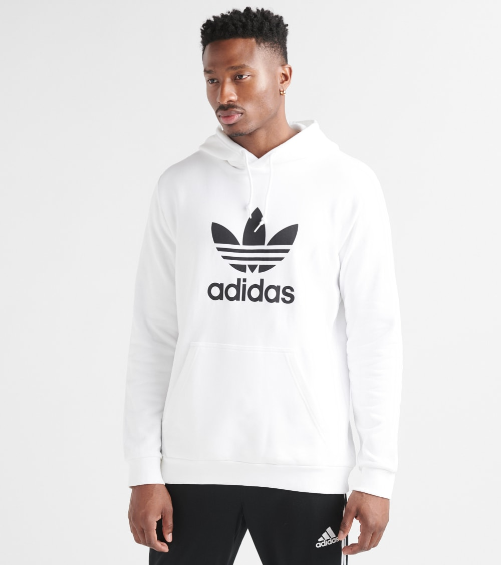 adidas mixed hoodie white and black
