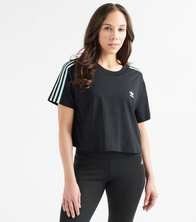 Adidas  3-Stripes Cropped Tee  Black - DV0112-001 | Jimmy Jazz
