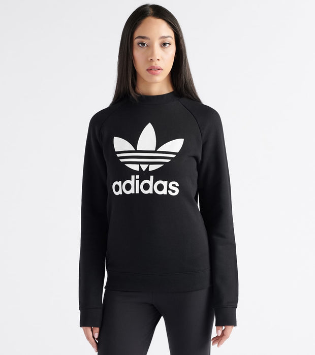Adidas  Trefoil Crewneck Sweatshirt  Black - DV2612-001 | Jimmy Jazz