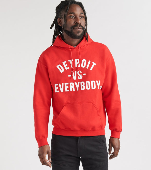 Detroit Vs Everybody  Detroit Vs Everybody Hoodie  Red - DVE0052-RED | Jimmy Jazz