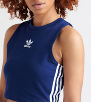 Adidas  Cropped high Neck Tank  Blue - DX2154-415 | Jimmy Jazz