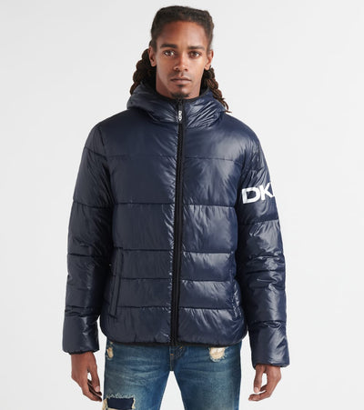 Dkny  Classic Logo Hooded Puffer  Navy - DX9MN197-NVY | Jimmy Jazz