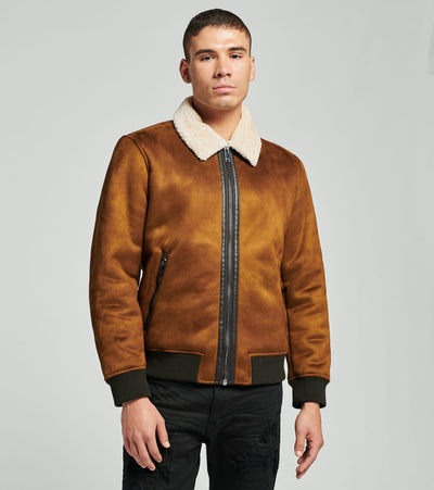DKNY  Faux Shearling Bomber  Brown - DX9MS846-BWN | Jimmy Jazz