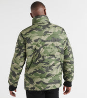 Dkny  Sherpa Trimmed Military Puffer Jacket  Green - DX9MU810-CAM | Jimmy Jazz