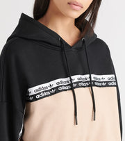 Adidas  Front Taping Cropped Hoodie  Black - EC0766-690 | Jimmy Jazz