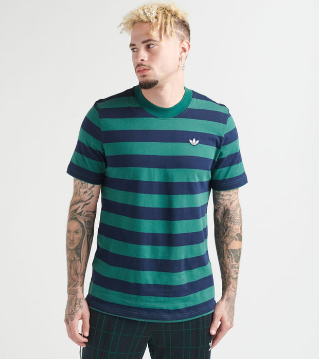 Adidas  Stripe Tee  Navy - EC9305-401 | Jimmy Jazz