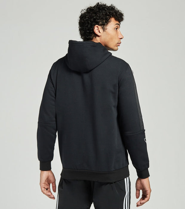 Adidas  Outline Logo Fleece Hoodie  Black - ED4693-001 | Jimmy Jazz
