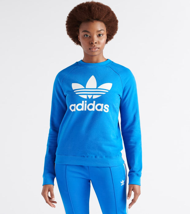 Adidas  Trefoil Crewneck Sweatshirt  Blue - ED7582-430 | Jimmy Jazz