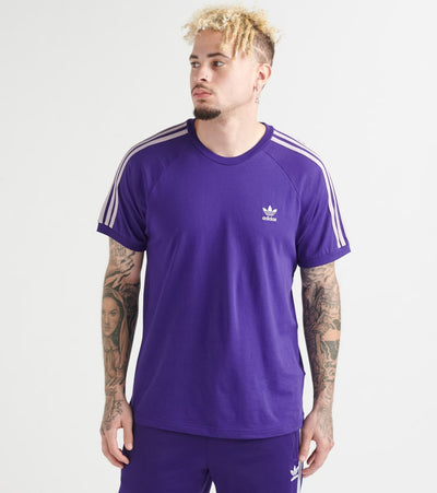 Adidas  3 Stripe Tee  Purple - EJ9685-500 | Jimmy Jazz