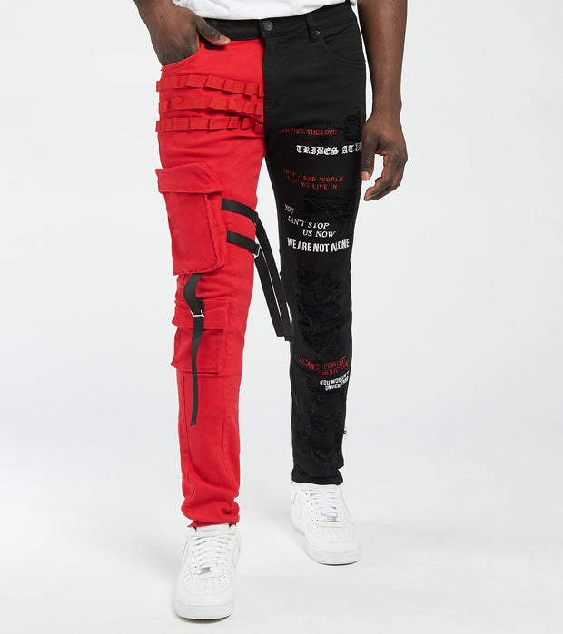 Embellish  Heist Cargo Denim Pants  L32  Black - EMBDECQS20103-BKR | Jimmy Jazz