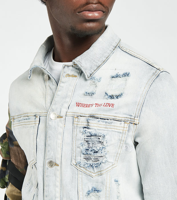 Embellish  Ander Denim Jacket  Blue - EMBDECQS20200-CBL | Jimmy Jazz
