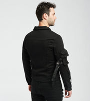 Embellish  Raider Denim Jacket  Black - EMBDECQS20204-BLK | Jimmy Jazz