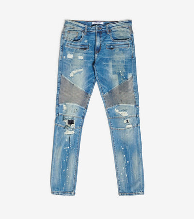 Embellish  5 Pocket Motocycle Jean  Blue - EMBH118-115 | Jimmy Jazz