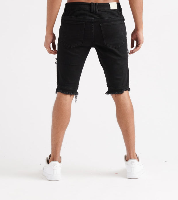 Embellish  Wilbur Biker Denim Shorts  Black - EMBQSSMR183-BLK | Jimmy Jazz