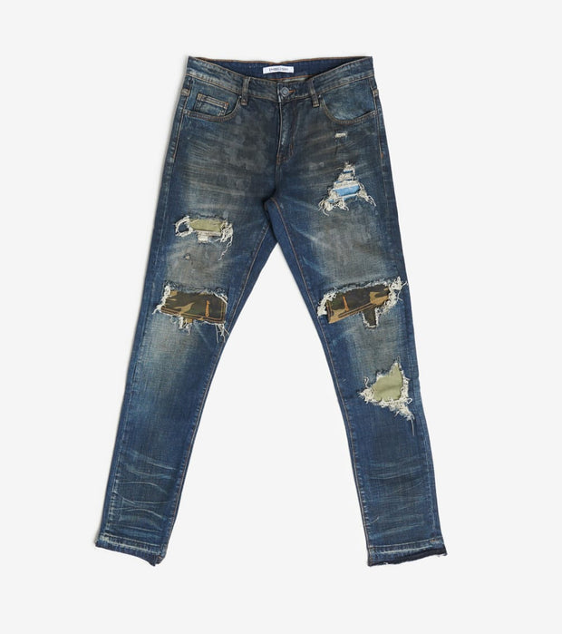 Embellish  Malaki Rip and Repair Jeans  Navy - EMBSP119-129 | Jimmy Jazz