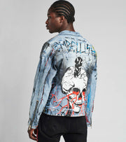 Embellish  Osbourne Denim Jacket  Blue - EMBSP119-220 | Jimmy Jazz